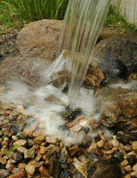 Safe Solar Powered Water Features
